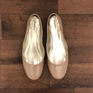 Nude Patent Leather Flats
